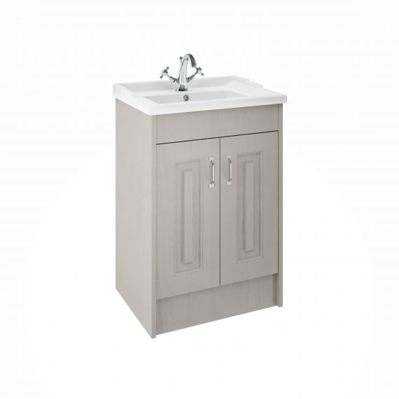 York Stone Grey 600mm 2 Door Basin and Cabinet